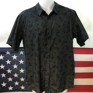Large Ezekiel Men's Black Night Dress Shirt